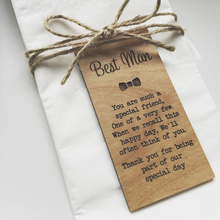 Best Man Wooden Place Setting,Wedding favors, Wedding gifts