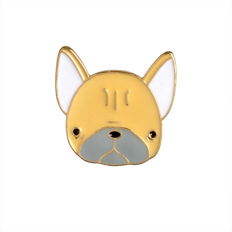 5 PCS / SET Cartoon Cute Dogs Metal Enamel Pin Animal Sign Jewelry - Bisutería - foto 6