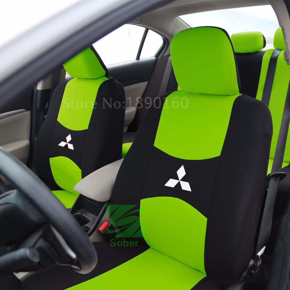 2 front seat Universal car seat cover for Mitsubishi ASX Lancer SPORT EX Zinger FORTI Outlander ...