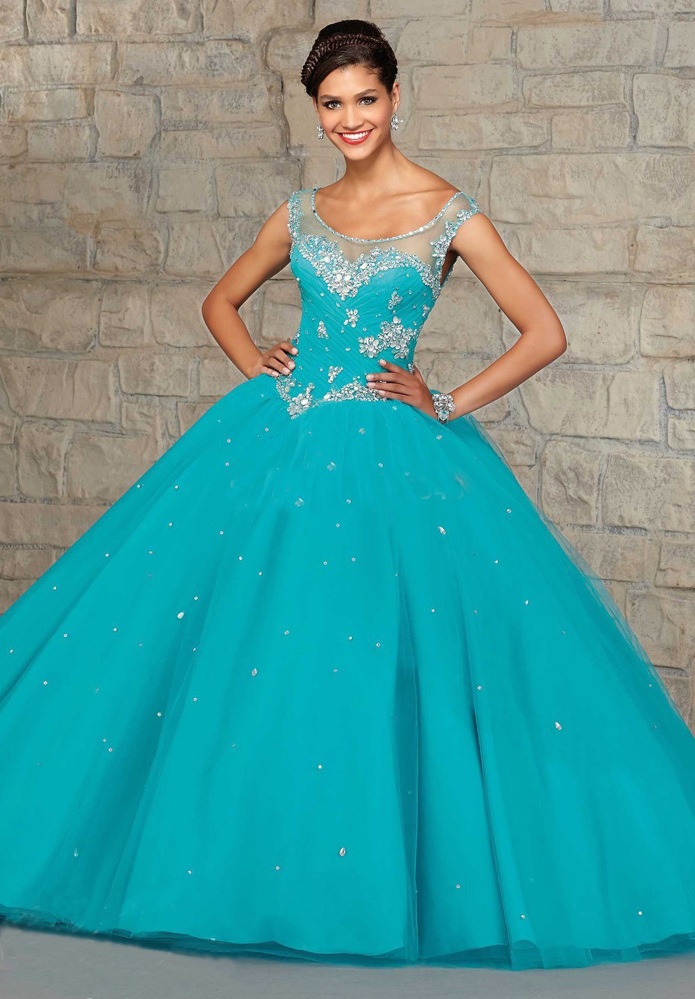 Blue Wedding Dresses with Color Accents | Dress images