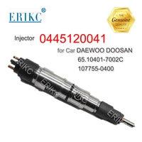ERIKC 0445120041 New Diesel Engine Injection 0 445 120 041 Common Rail Fuel Injectors 0445 120 041 for DAEWOO DOOSAN 107755 0400