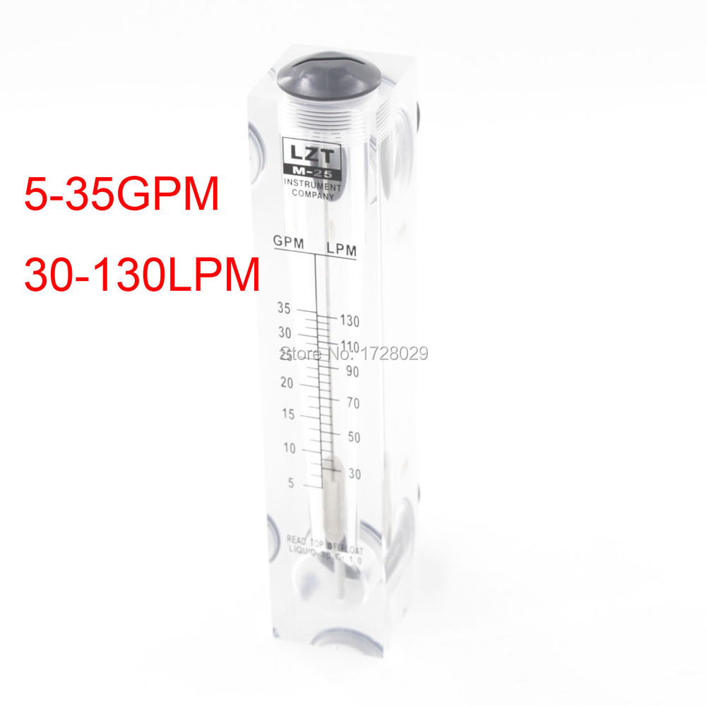GPM 5-35 Liquid Flowmeter Water Meter LZM-25 Liquid Flow Meter Without Valve lzm 6t 10 100lpm 20 200scfh panel type acrylic flowmeter flow meter with adjust valve bass fitting female