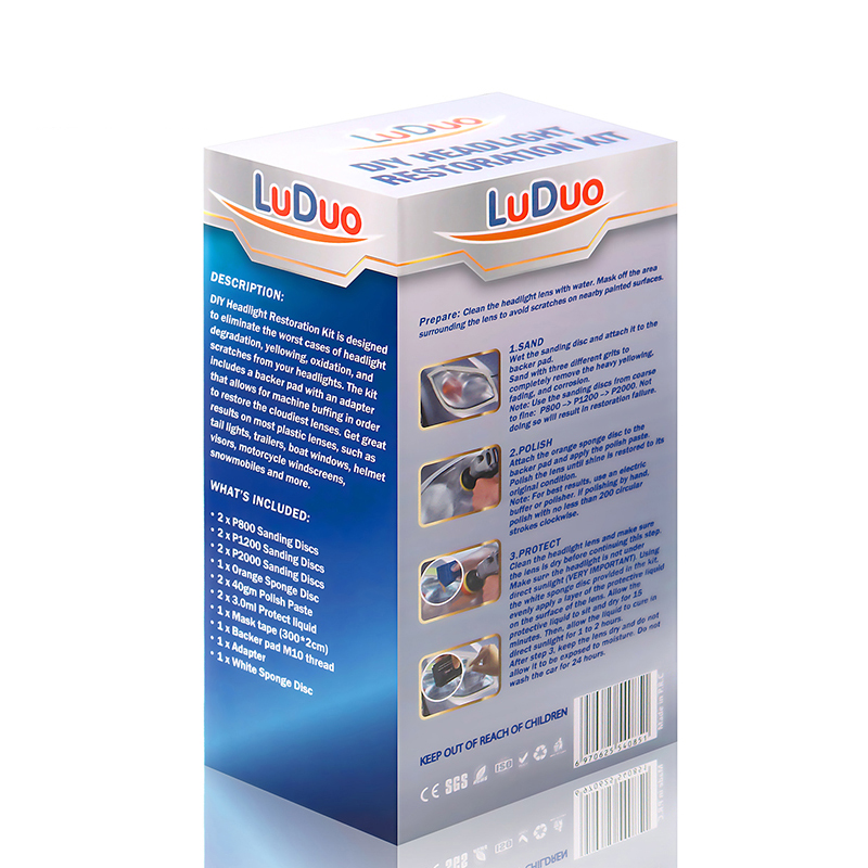 Image 5 - LuDuo Headlight Polish Restoration Kits Car Headlamp Polishing Cleaner Paste Care Wash Brightener Repair Paint Care with Cloth-in Polishing & Grinding Materials Set from Automobiles & Motorcycles