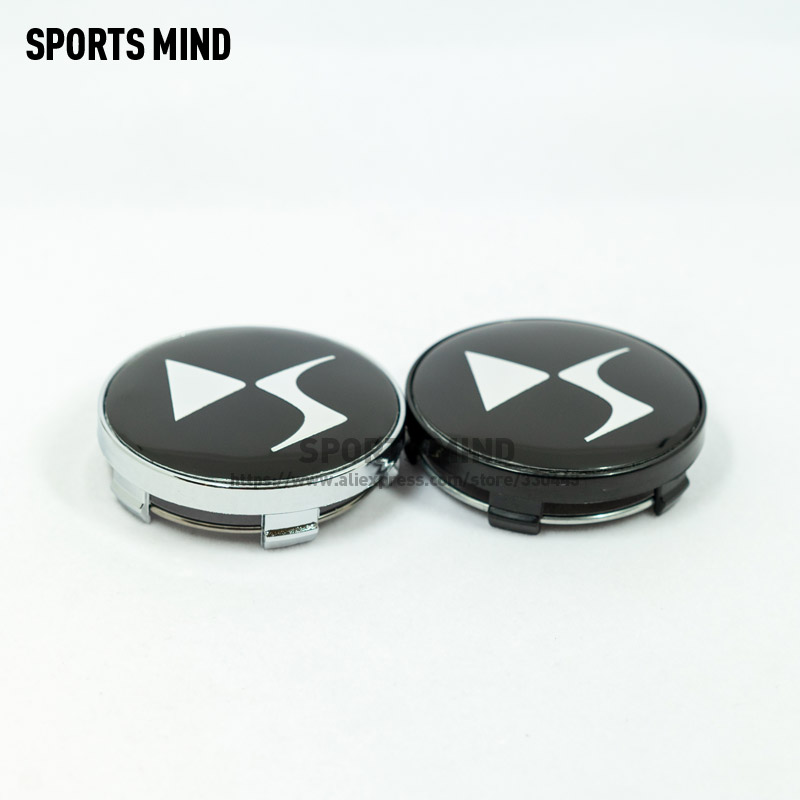 4PCS/lot 60MM DS Car Wheel Center Hub Caps for DS DS3 DS5 DS6 Deesse PSA logo Stylish Hard Wearing Replacement Dust Cover-in Wheel Center Caps from Automobiles & Motorcycles