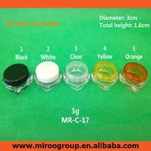 Free Shipping 100 2pcs 3ml 3g empty cream bottle 3g cream pot cream jar empty cosmetic