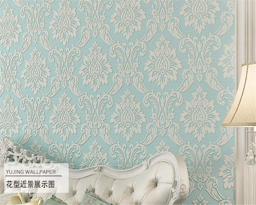 Beibehang High-class european-style Damascus anaglyph 3d wallpaper luxurious sitting room the bedroom TV setting wallpaper roll beibehang wallpaper for walls roll vintage design bedroom sitting room european style damascus wall paper photo tv background