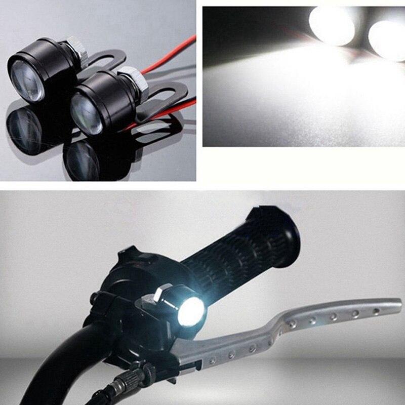 Image 4 - 2Pcs 12V Motorcycle White LED Spotlight Headlight Driving Light Fog Lamp 21.5*20*47mm spotlight accessories car work Fog light-in Electromobile from Automobiles & Motorcycles