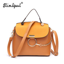 ELIM&PAUL Women Leather Handbags Women Messenger Bags Ladies Bolsa Feminina Women Bag Top-Handle Bag Handbags Crossbody Bag 7165