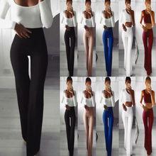 купить New Plus Size Womens Palazzo 2019 Hot Sale Wide Leg Flared Ladies Stretch Trousers Pants 8-30 по цене 332.17 рублей