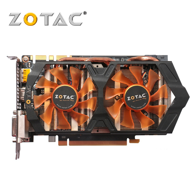 100% Original PLACA De Vídeo ZOTAC GeForce GTX 660 GB GPU 192Bit 2 GDDR5 Placas Gráficas nVIDIA para Mapa GTX660 2GD5 GK106 Hdmi Dvi