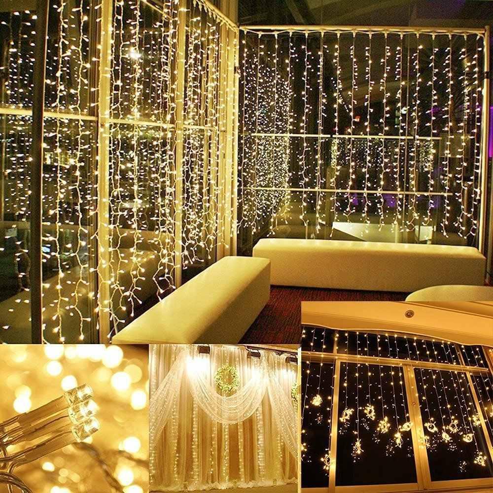 3x3 LED сосулька Фея Света ЕС Plug гирлянды Шторы Led строки лампы Рождество открытый/внутренней отделки для рождество свадьбы Hallowen