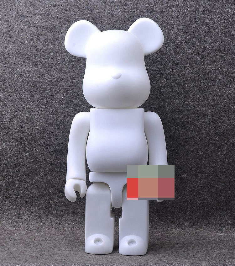 1pc 400% bearbrick bear@brick  DIY Paint PVC Action Figure White Color With Opp Bag limited version 1000% bearbrick bear brick 70cm milky girl pvc action figure medicom toy art work great gift for friends