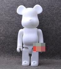 1 pc 400% bearbrick ours @ brique BRICOLAGE Peinture PVC Action Figure Blanc Couleur Avec Opp Sac