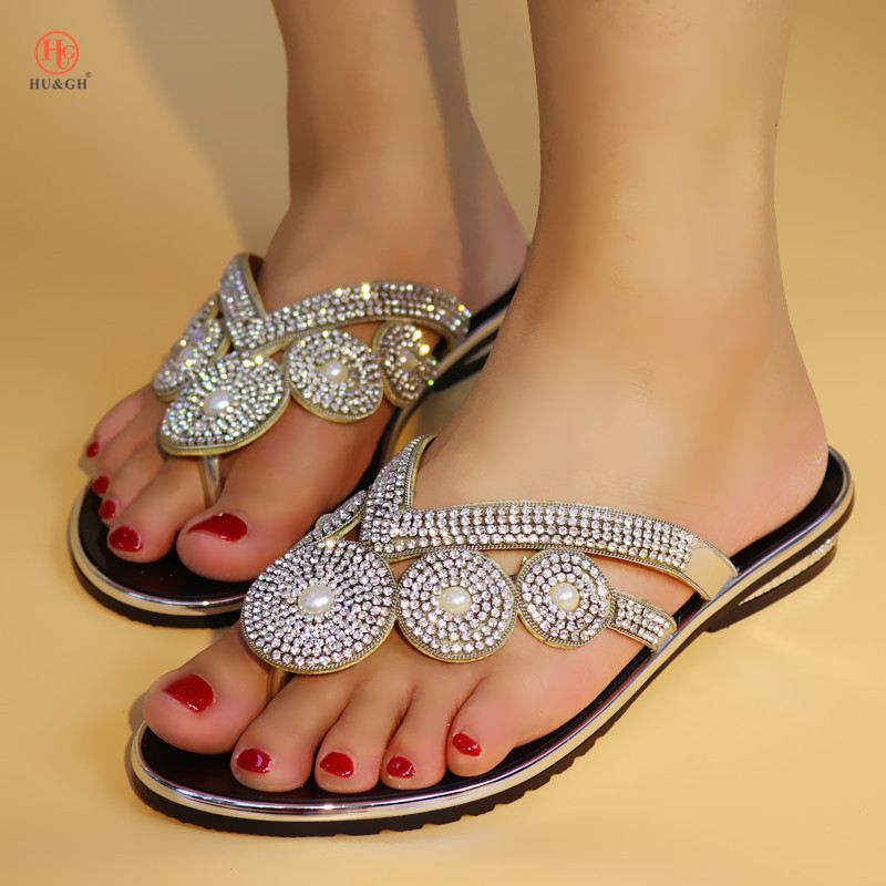 Newest Silver Pumps Women African Shoes Without Bag Matching Novelty Italian Shoes Nigerian Low Heels Silpper
