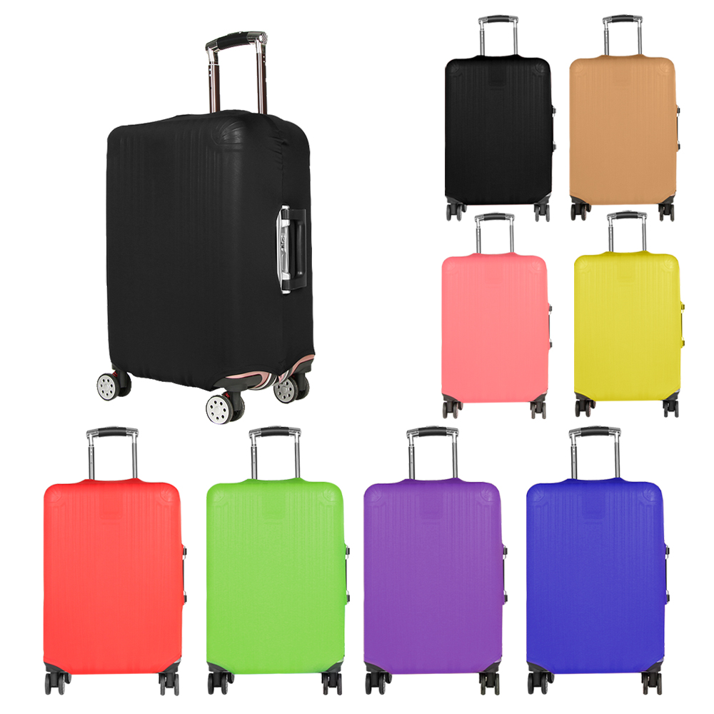 Elastic Fabric Case Baggage Protector Suitcase Cover Candy Color Dust-proof