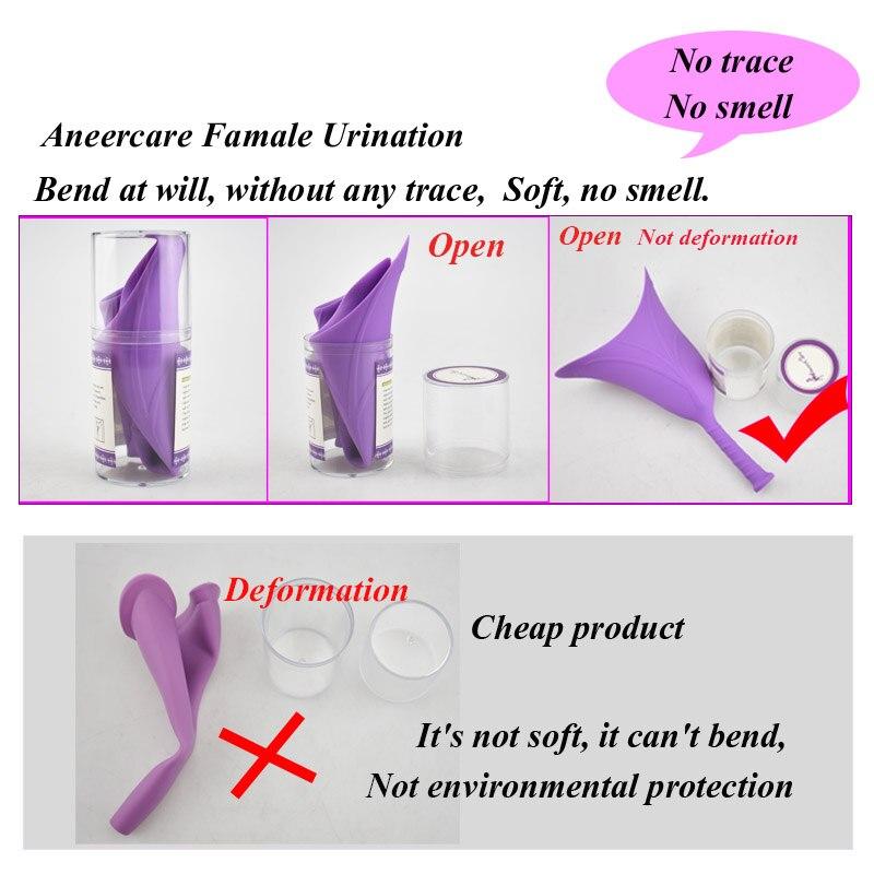 Urine Funnel For Women Urine Device Female Travel Urination Toilet Women Stand Up Pee female urinal portable urinol feminino in Feminine Hygiene Product from Beauty Health