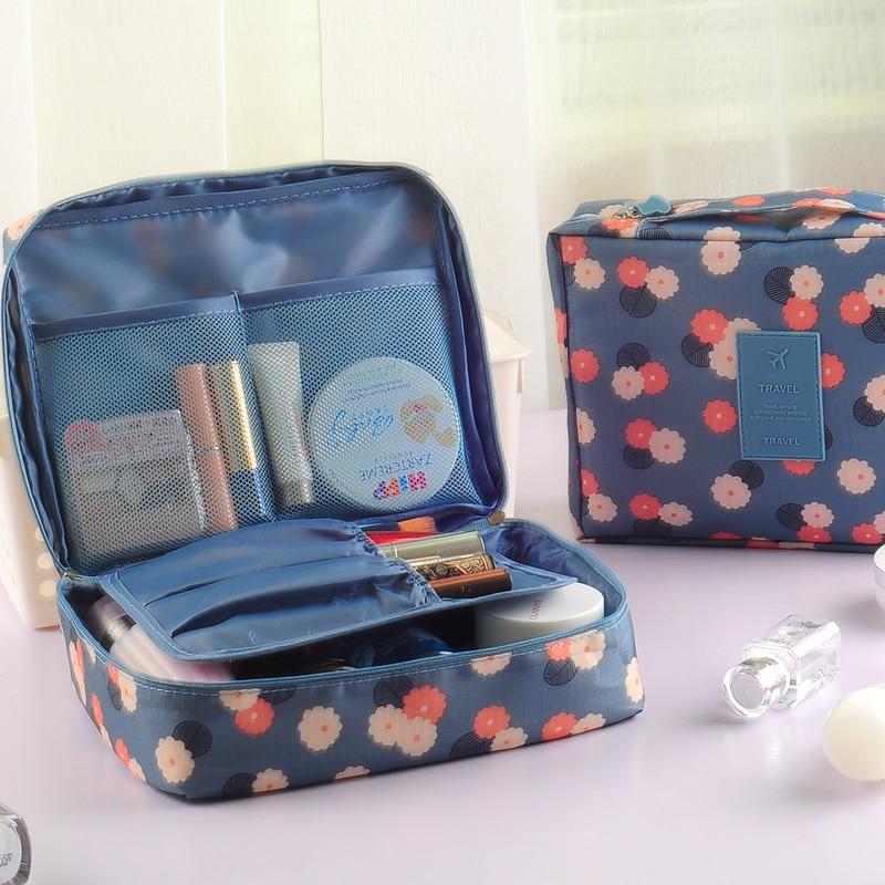 Waterproof Large Capacity Nylon Makeup Bag Portable Multifunction Female Cosmetic Bag Travel Women Toiletery Storage Beauty Case