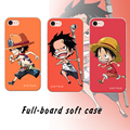 One Piece Луффи Телефон Case Для Apple iPhone 7 plus 7 6 плюс 6 s 6 5S 5 Крышка Прозрачная ТПУ Soft Case PC Жесткий Смартфон Case