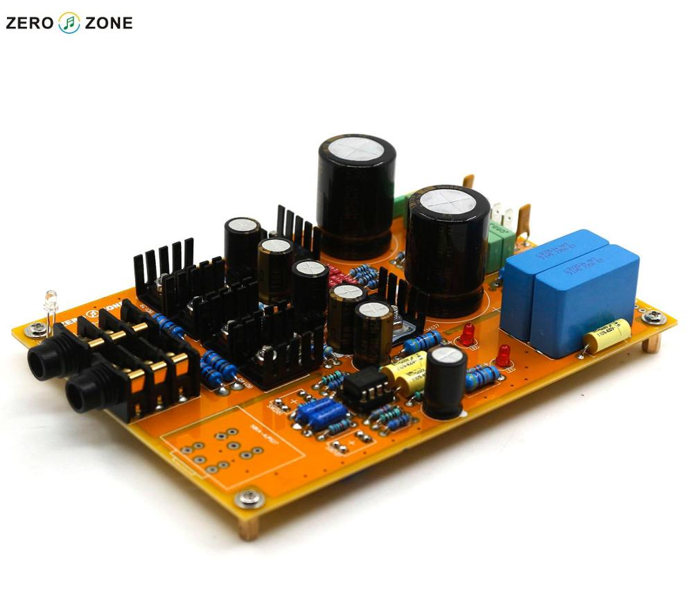 GZLOZONE Upgraded Assembled Headphone Amplifier Board Preamp Base On Lehmann Amp + ALPS Potentiometer assembled upgraded n5 preamplifier board hifi amp board with 2134 opa