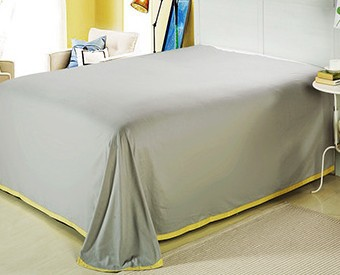 77e61ca1c5b8b Romantic modern island vacation Gray and yellow 4pcs hotel bedspreads bedding  set Queen King size 100% combed cotton B2182-in Bedding Sets from Home ...