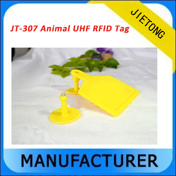High Performance Plastic Waterproof Livestock/Animal UHF RFID Ear Tag for Pigs/Cattles/Sheep Management with Cheap Price 1000pcs long range rfid plastic seal tag alien h3 used for waste bin management and gas jar management