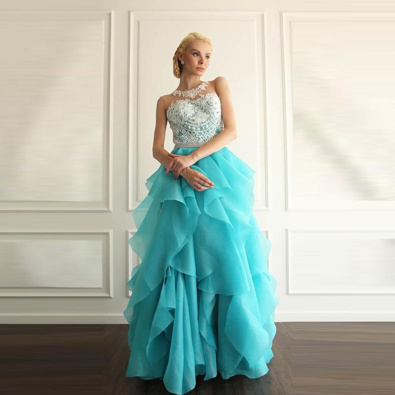 Ice blue prom dress