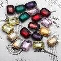 70 unids/lote 18 * 27 mm rectángulo Octagon Flatback pegamento en cristal de lujo Rivoli piedra de los granos DIY accesorios de la ropa