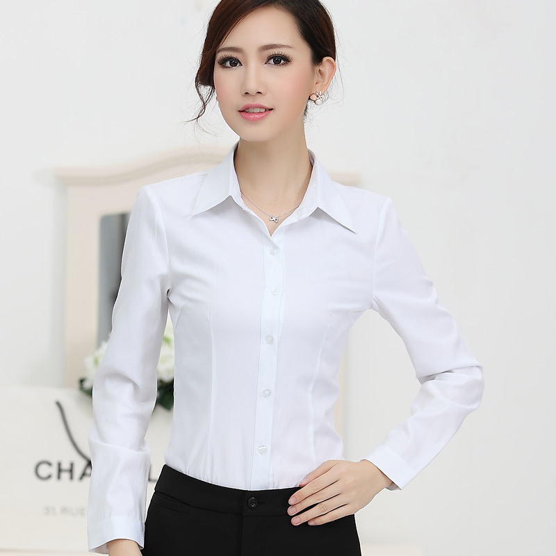 Popular 2015 New Fashion White Shirt Women Work Wear-Buy Cheap ...