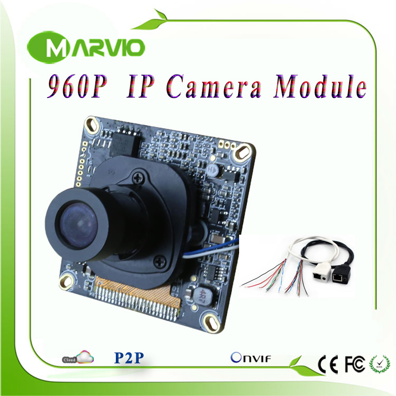 1.3MP 960P HD CCTV Network IP Camera Module Board, With IRCUT Lens and LAN Cable, Onvif DIY Your Security System hd cctv 720p 1mp ip camera module pcb main board security 1 0 megapixel onvif p2p cs lens ip cable ircut