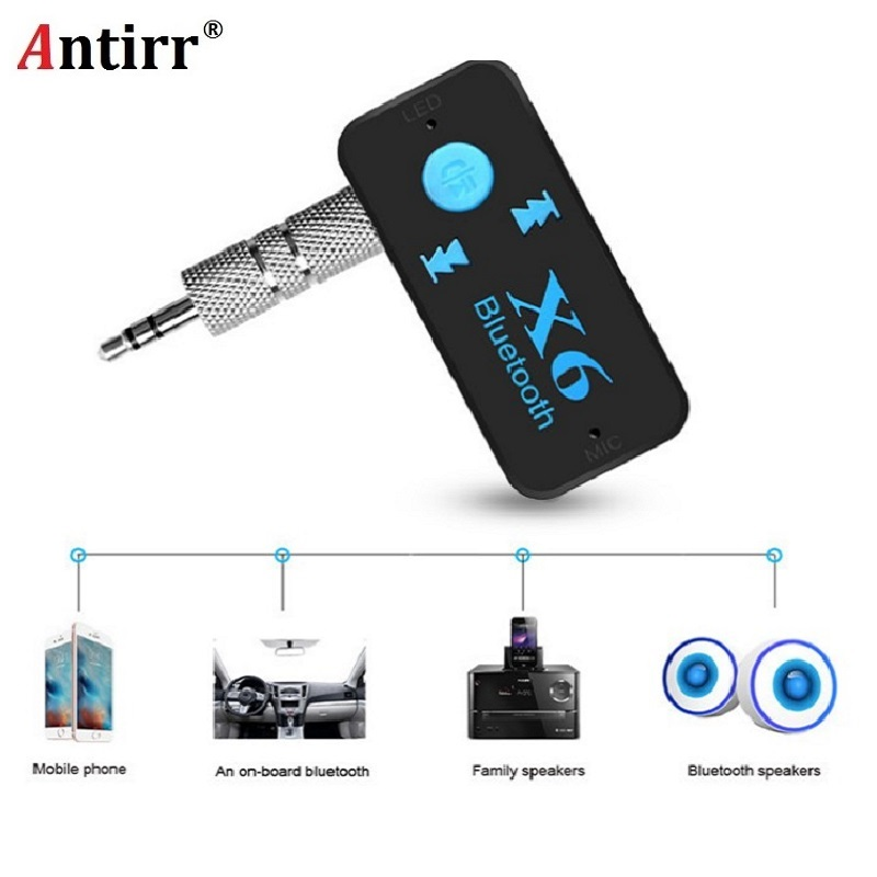 x6 adapter bluetooth receiver auto car bluetooth aux kit. Black Bedroom Furniture Sets. Home Design Ideas