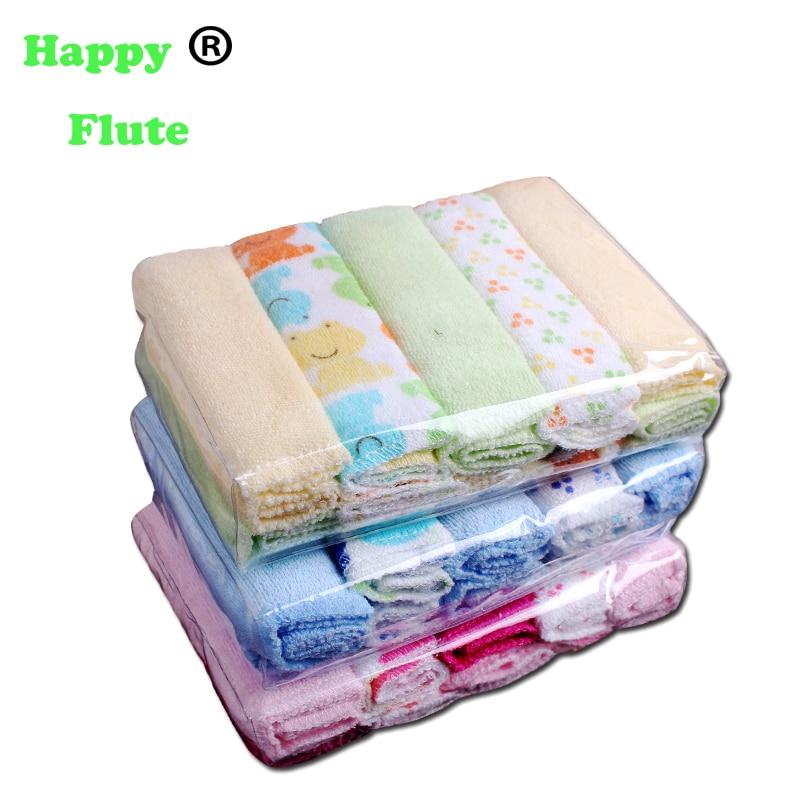 Happyflute 10pcs Set Pack Baby Washcloths Small Baby Towel