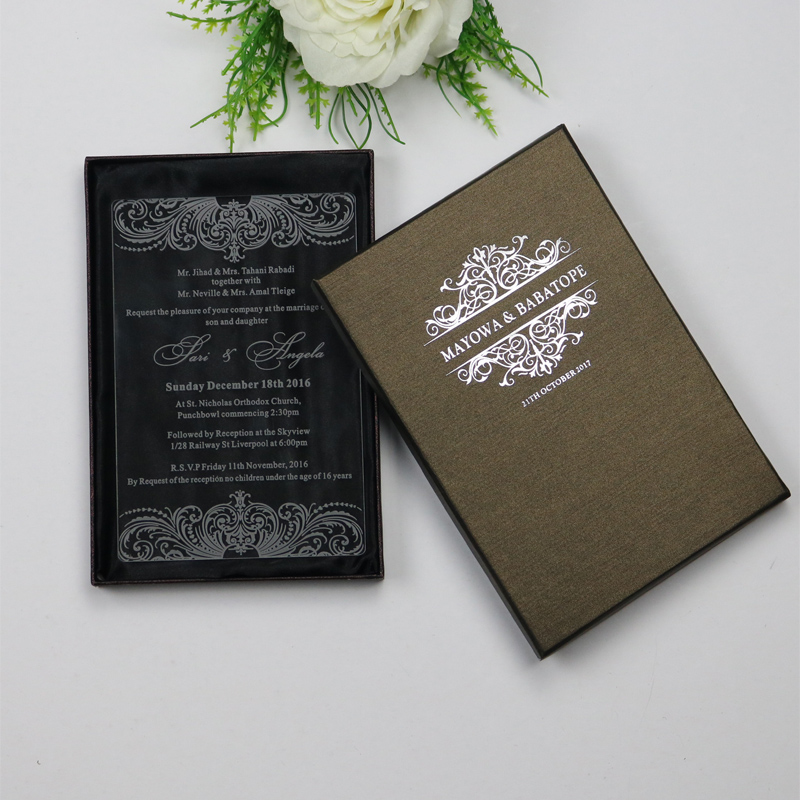 30 Personalized Clear Luxury Customized Acrylic Wedding