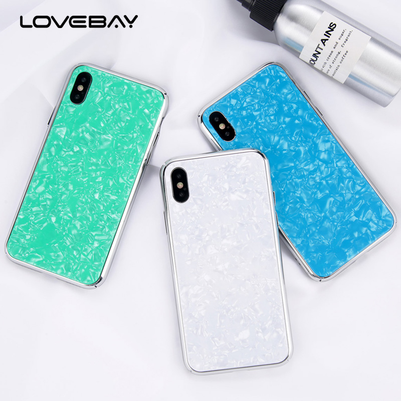 Lovebay Hard PC Plastic Cover For iPhone 7 6s Plus Case Ultra Slim Colorful Dream Shell Glossy Phone Cases For iPhone 8 6 Plus X