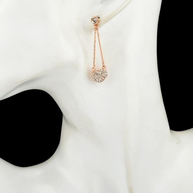 Женские винтажные серьги капли в форме сердца chicvie длинные