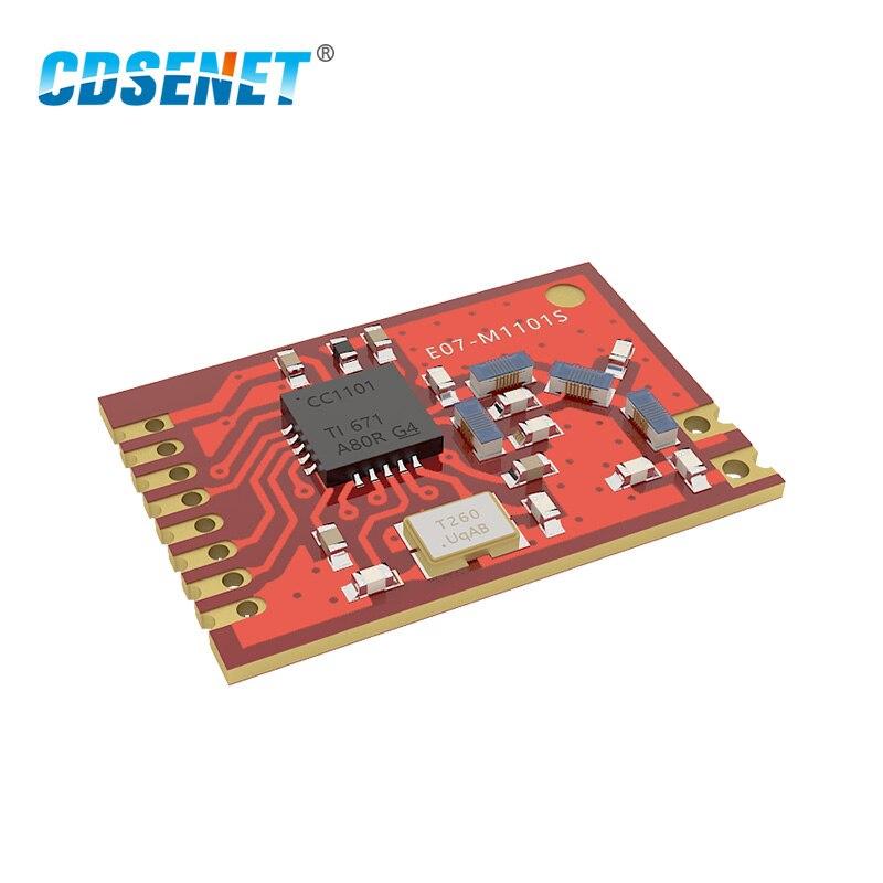 Приемопередатчик CC1101 433 мгц радиочастотный модуль CDSENET E07-M1101S 10 мВт SPI радиочастотный передатчик и приемник 433 МГц отверстие для печати CC1101