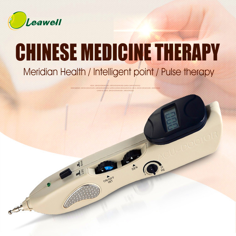Leawell Acupuncture needle on Tv Electronic Massage Pen Acupuncture Laser smart Acupuncture Point Meridian Vibrating Massager