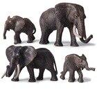 Elephant Figurine Animal Figures Office Desk Living Room Decoration Ornaments Home Decor Kids Gift Toys