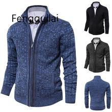 Autumn Winter 2019 New Mens Cardigan Sweater Brand Clothing Slim Fit Zipper Male Christmas Sweaters Top Quality For Men