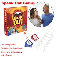 In Stock Speak Out Game 1 Pcs/Set Board Game Interesting Party and Family Game In 48 Hours To Send Free shipping 400magic