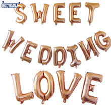 QGQYGAVJ 16 inch Rose gold A-Z letter a lot of aluminum balloon birthday festival wedding decoration toy balloon wholesale