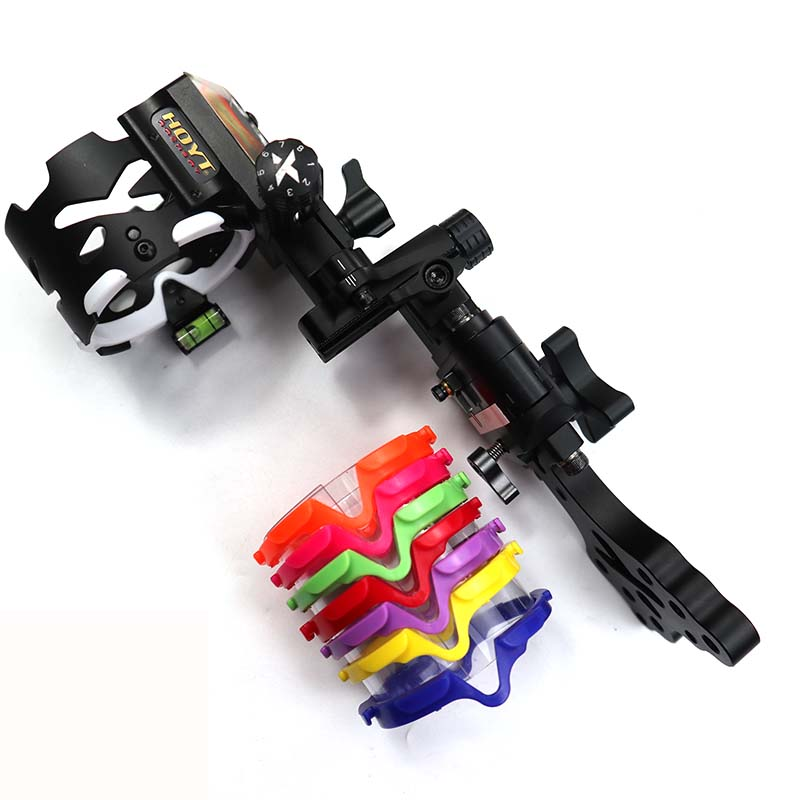 2018 New Pro Xceed 5-Pin Slider Sight And  Single-Pin Slider Sight 3D Hunting Sight For Compound Bow Hunting Shooting