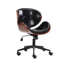 Silla Vintage de madera maciza para el hogar, silla de sala de estar levantada y giratoria Simple, silla para empleados de oficina multifunción