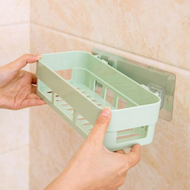 Multifunction Bathroom Rack PP Wall Mounted Toilet Makeup Storage Plastic  Makeup Box Accessories Porta Maquiagem Organizer