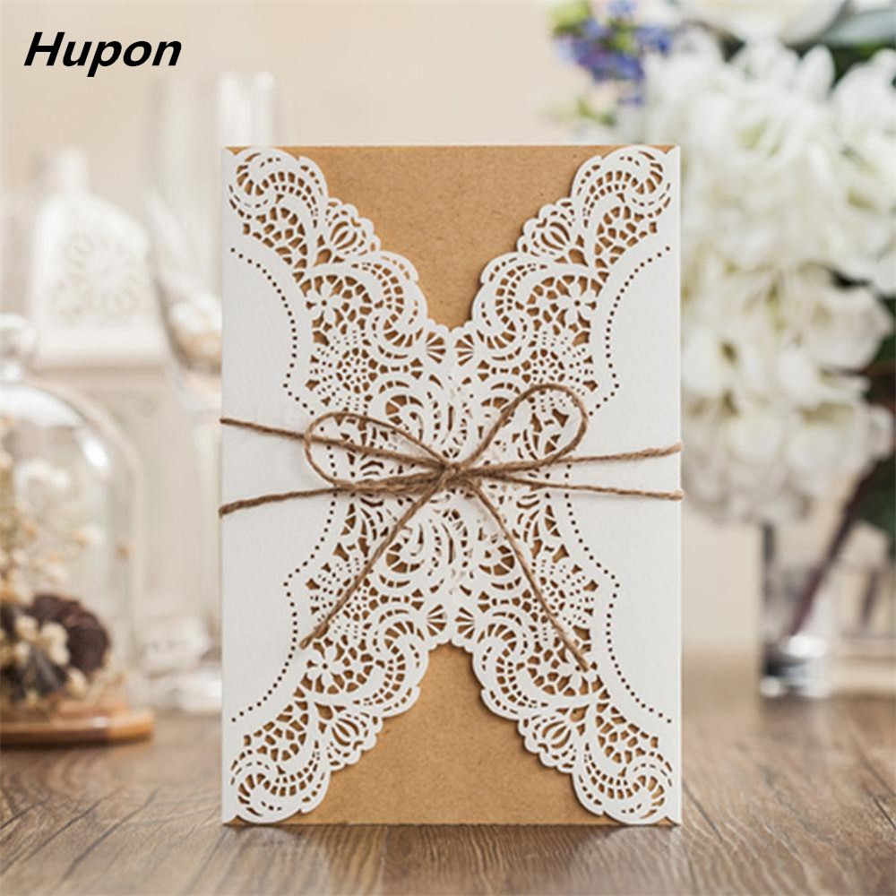 50pcs Luxury Wedding Invitation Cards Kits with Envelopes Laser Cut Birthday Greeting Card Wedding Decoration Party Supplies