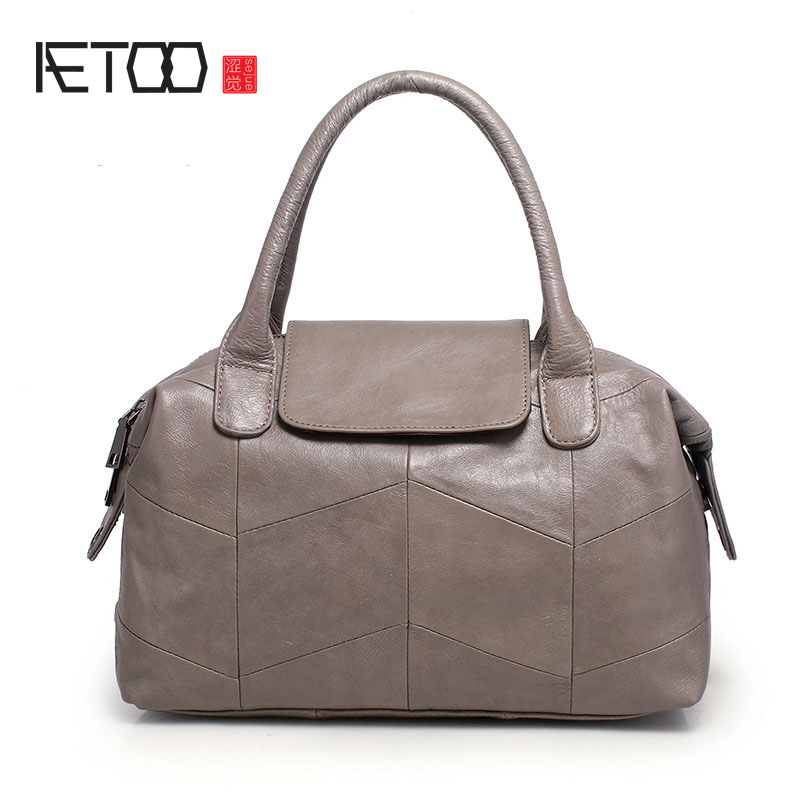 AETOO New handbags simple handbag fashion trendy shoulder bag leather bag classic aetoo 2017 new 100