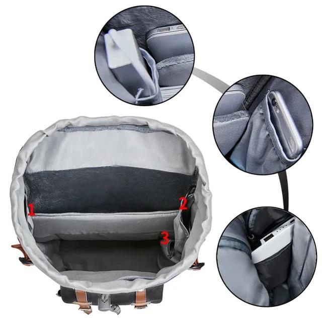 KALIDI Laptop Backpack 15.6-17.3 inch for Teenage School Travel Bag Leather Casual Men Backpacks 15-17inch Backpack Travel Women