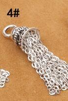 925 Серебряная кисточка DIY браслет кисточка чистое серебро ювелирные изделия кисточка - Цвет: Style 4