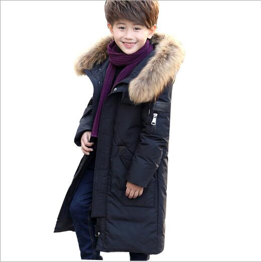 -30 degrees 2017 children's winter jacket for boys kids Down Jackets Garment boys Long Coat parkas clothes Thick Hooded Outwear 2017 winter down jackets for boys