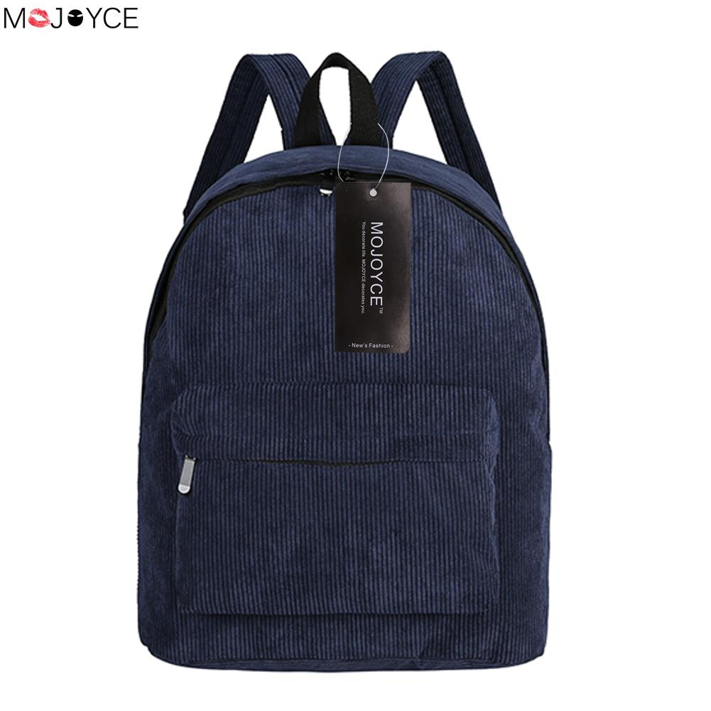 Casual Unisex Preppy School Bags for Teenager Vintage Corduroy Backpack Escolar Mochila Feminina Women Backpack Rucksack tangimp 3 size camouflage kid cool backpack school bags unisex travel mochila escolar backpacks bags for boys girls teenager