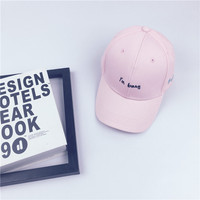 New Fashion Cotton Women And Men Unisex Baseball Cap Summer Casual Letters Tennis Hat Adjustable High